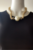 Necklace & Earrings Set with Oversized Faux Pearl.