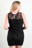 PLUS SIZE BLACK LACE BODYCON DRESS FROM LOVE CHESLEY.