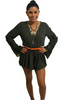 100% Rayon Romper! Boho Chic Lace! Dark Olive.