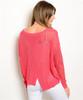 Boutique Crochet Sweater! Coral.