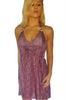 Silky Pink Leopard Halter Dress from Paradise Couture!