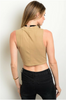 Mocha Brown Bodycon Crop Top from VERY J!
