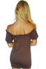 Seamless Dress | Off Shoulder | Brown | One Size Fits Most