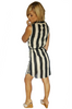 Plus Size Black and White Striped Dress from Marianne!