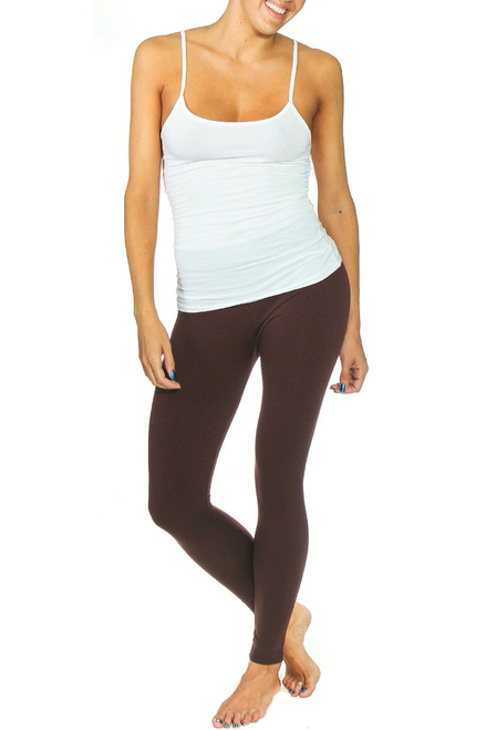 PLUS SIZE Solid Brown Body-Shaping Leggings!
