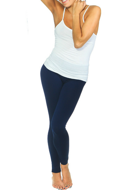 PLUS SIZE Solid Navy Blue Body-Shaping Leggings!
