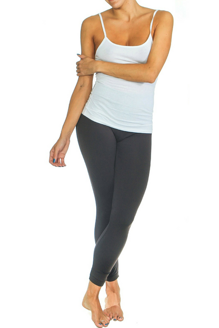 PLUS SIZE Solid Charcoal Grey Body-Shaping Leggings!