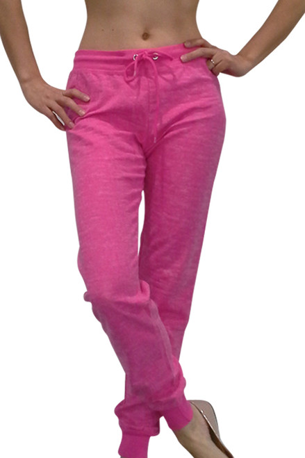 DEREK HEART Cotton Joggers! Pink Burnout Pattern.