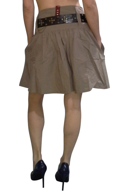 100% Cotton Skirt with Pockets comes with the Boho-Chic Belt! Mocha Brown.
