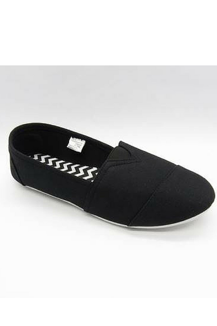 "Inspired by Major Brand! Classic Black ""Toms"" Style Flats!"