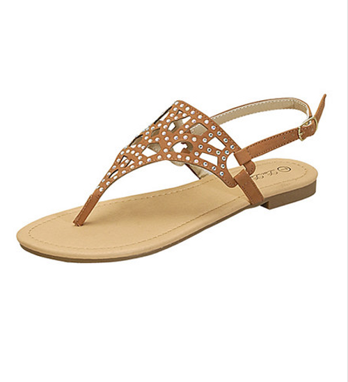 Tan Gladiator Style Sandal with Micro Stones!