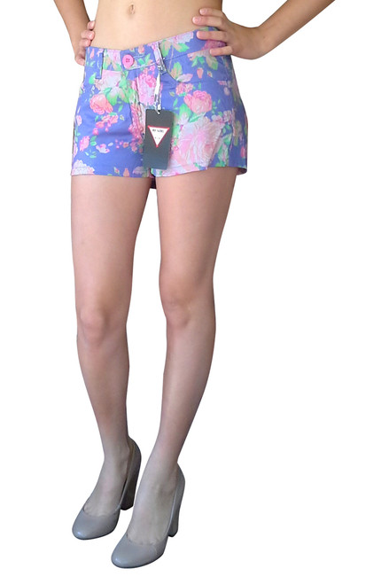 98% Cotton Purple Floral Pattern Shorts from B GIRL!