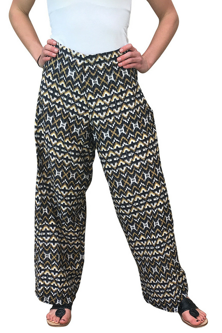 PALAZZO PANTS ARE BROWN & BLACK GEO PRINTED GEO PRINTED! **Also available in Plus Size: Item #9432