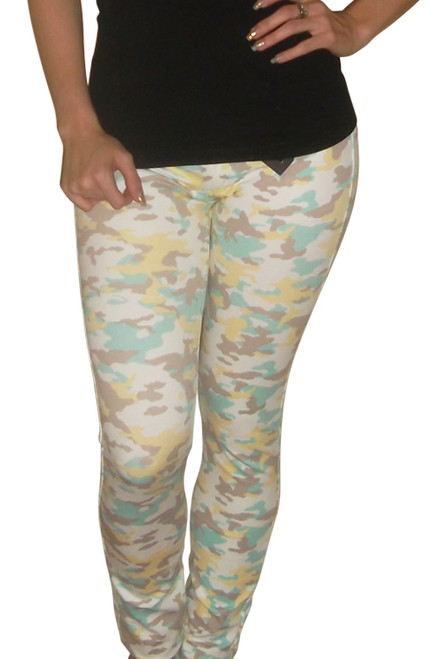Butter Soft Mint Camo Stretch Jeans!