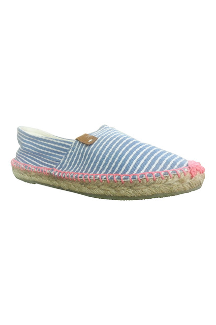 Espadrilles from Coolway Shoes! Adorable Flats in Blue & White Stripes!