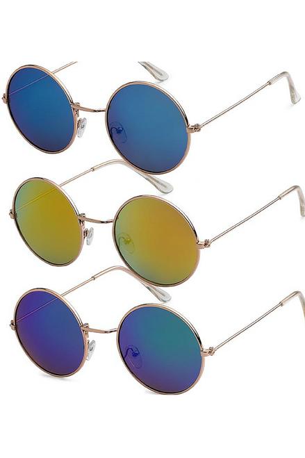 "HIGH QUALITY UV400 PROTECTION SUNGLASSES. RETRO COOL ""TEASHADE"" JOHN LENNON GRANNY GLASSES. NAVY BLUE LENS."
