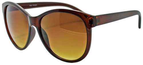 HIGH QUALITY UV400 PROTECTION SUNGLASSES. CLASSICALLY COOL SHADES. BROWN.