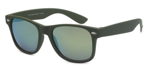 HIGH QUALITY UV400 PROTECTION SUNGLASSES. 'CANDY RAY BANS'. OLIVE GREEN.