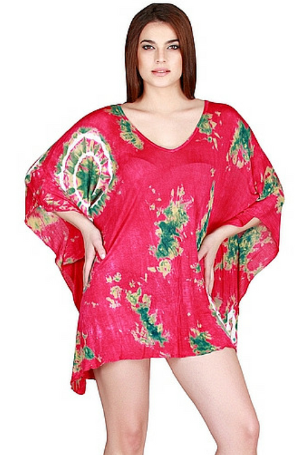 100% RAYON BOHO BATIK DRESS - CHOOSE FROM 4 COLORS! ONE SIZE (Up to Size 18).
