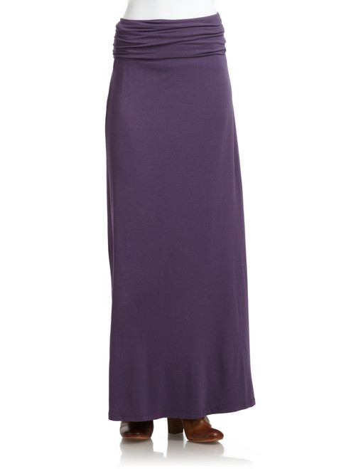 CLASSIC MAXI SKIRT IN ULTRA-SOFT COTTON/RAYON BLEND! Purple.