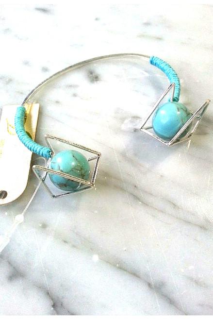 Boho-Chic Turquoise Cuff Bracelet!