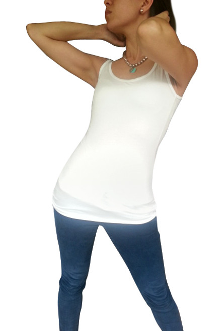 NORDSTROM'S QUALITY Solid, Boutique Tank Top from NU CONSTRUCTION! White.