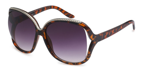 UV400 PROTECTION! HIGH QUALITY SUNGLASSES. METAL ACCENT FRAME. BROWN TORTOISE SHELL.