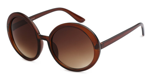 UV400 PROTECTION! HIGH QUALITY ROUND FRAME SUNGLASSES! BROWN.