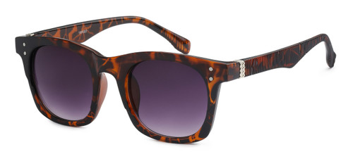 UV400 PROTECTION! HIGH QUALITY SUNGLASSES. RAY-BAN STYLE WITH RIBBED FRAMES. BROWN TORTOISE SHELL.