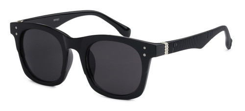 UV400 PROTECTION! HIGH QUALITY SUNGLASSES. RAY-BAN STYLE WITH RIBBED FRAMES. BLACK WITH GREY LENS.
