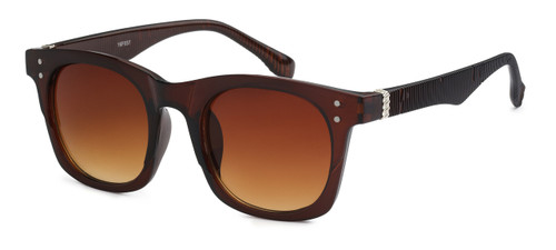 UV400 PROTECTION! HIGH QUALITY SUNGLASSES. RAY-BAN STYLE WITH RIBBED FRAMES. SOLID BROWN FRAMES.