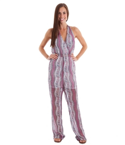 Halter Top Sheer Pink Jumpsuit is a Fashion Statement!