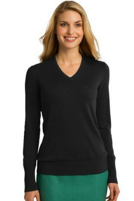 V-Neck, One-Size Tri-Blend Rayon Cardigan. Solid Black.