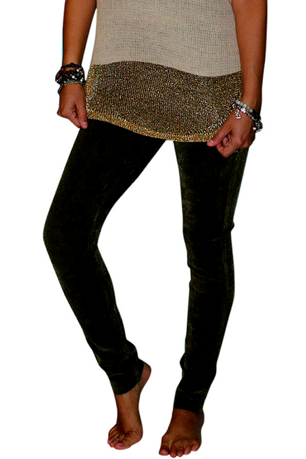 Tri-Blend Rayon Jeans! Black with Subtle Tattoo Paisley Pattern!