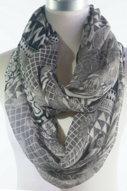 GREY INFINITY SCARF IS CLASSY & SOPHISTICATED!
