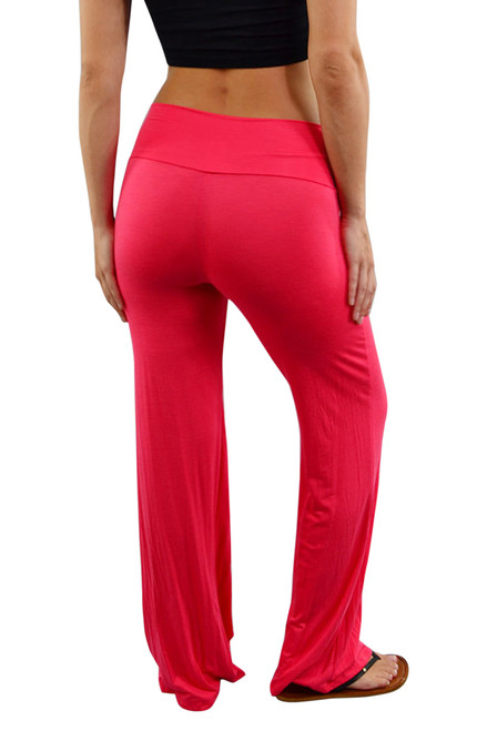 PLUS SIZE PALAZZO PANTS ARE 94% RAYON & 6% SPANDEX! CORAL/PEACH.