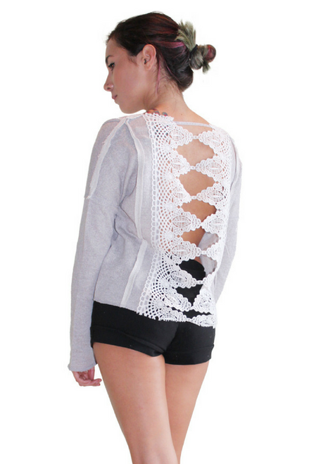 Lightweight, Lace Back Top From Derek Heart!