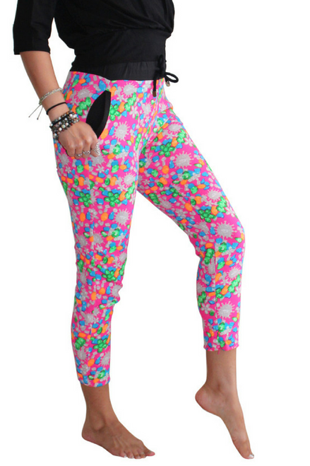 Pink Multicolor Polka Dot Joggers from Boutique Brand: LUCY PARIS!