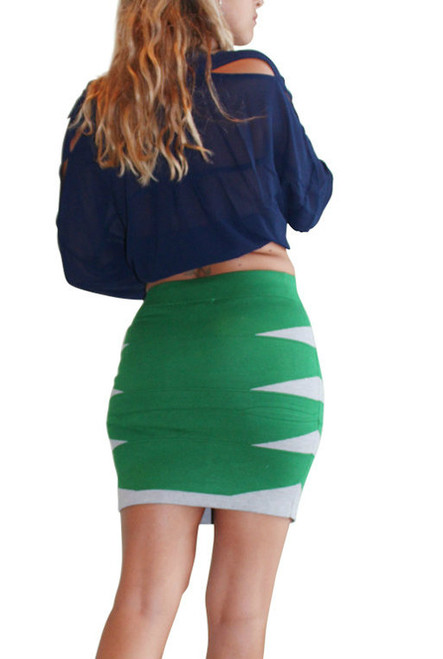 90% Rayon. Green Bodycon Skirt From LucyParis.com!