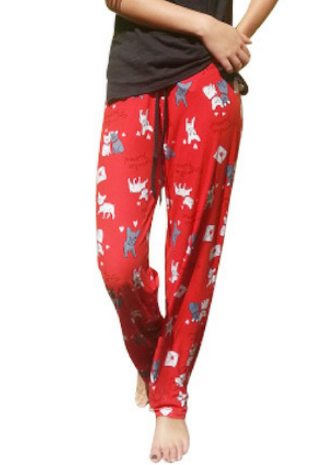 $35 Tags! 50% Cotton Pajama Pants! Red with Little Doggies!