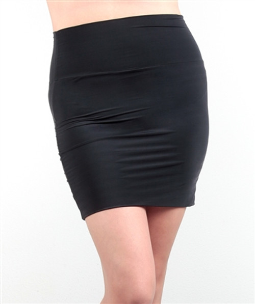 PLUS SIZE Solid Black Bodycon Skirt.