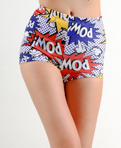 Comic Graphic Print Shorts! Boom! Pow! Wow!!