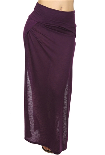 LONG PURPLE MAXI SKIRT WITH SLIT SIDES!