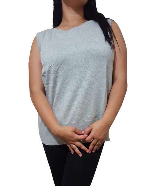 Plus Size Cardigan Is Amazing Cotton-Rayon Blend! Heather Grey.