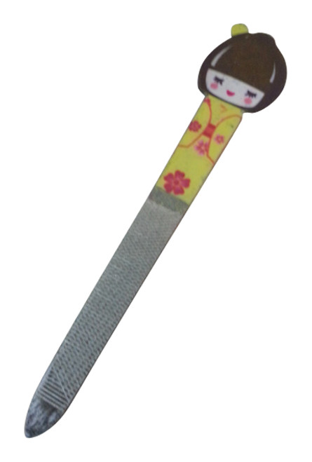 GIFT ITEM. Japanese Girl Nail File. Yellow.