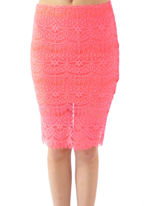 $21.99 Tags! Rayon Crochet Pencil Skirt! Fully Lined.