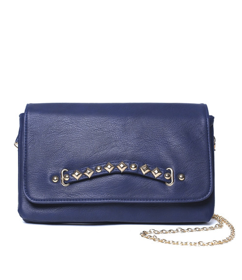NAVY BLUE FAUX LEATHER PURSE!