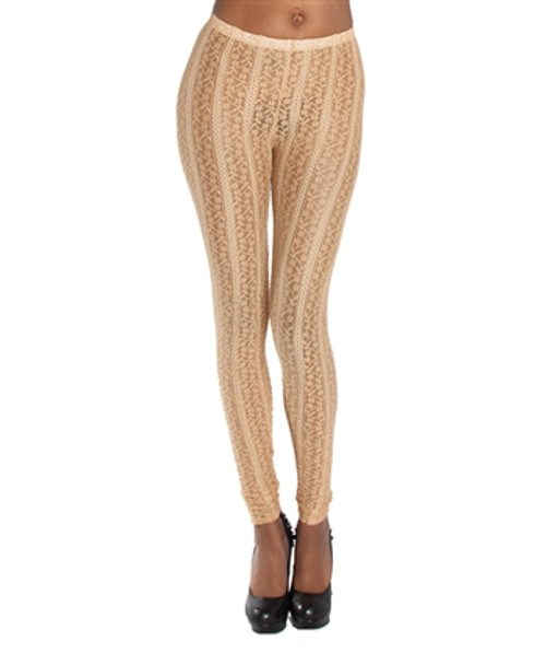 Golden Brown Lace Leggings from KTOO!