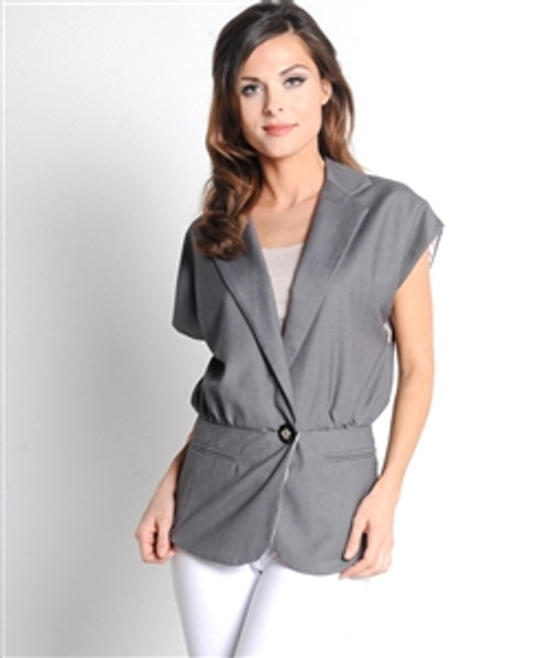 Boutique Brand Stone Grey Blazer from ALYTHEA is 30% Cotton!