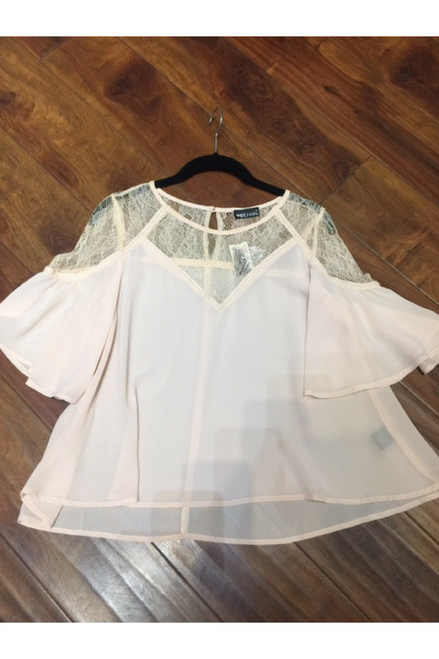 Lace Top In Trendy Peach with $24.90 Tags from Wet Seal!